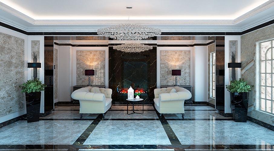 Гостинная из панели под мрамор - Искусственная мраморная плита в Алматы от MaxStone