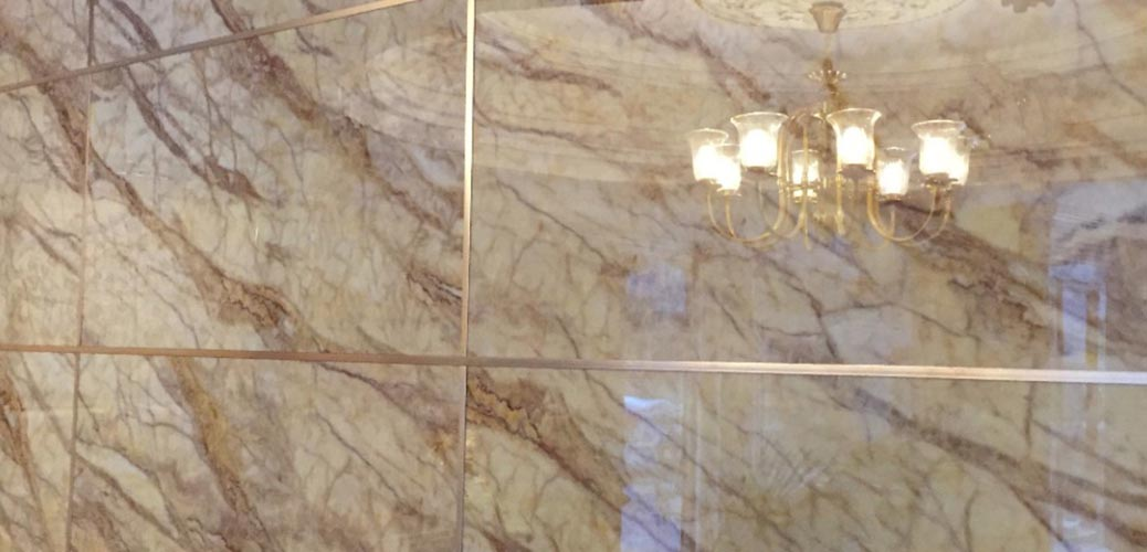 Гостинная из мраморной плиты - Панель под мрамор в Алматы от MaxStone