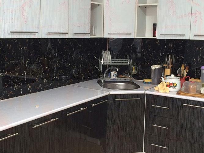 Кухня из пластиковой панели под мрамор - Мраморная плита в Алматы от MaxStone