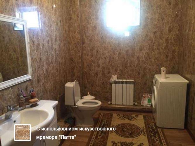 Ванная из пластиковой панели под мрамор - Мраморная плита в Алматы от MaxStone