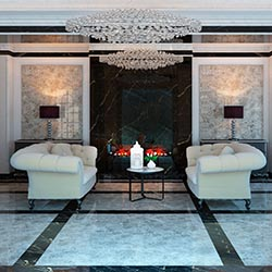 Гостинная из мрамора - Пластиковая панель под мрамор в Алматы от MaxStone
