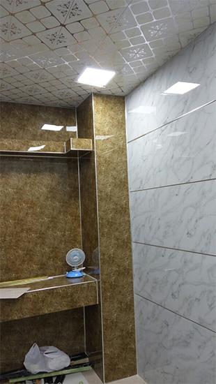 Внутренняя отделка искусственной мраморной плитой от MAXstone