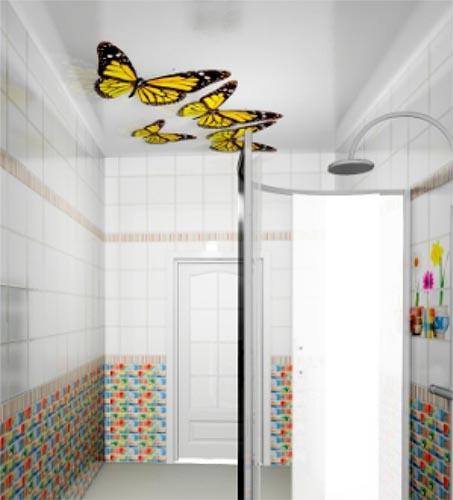 Бабочки - Декоративный влагостойкий потолок от MaxStone в Алматы