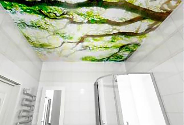 Лесная свежесть - Декоративный влагостойкий потолок от MaxStone в Алматы