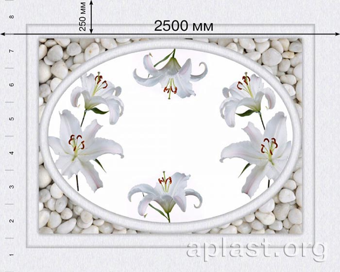 Лилия - Декоративный влагостойкий потолок от MaxStone в Алматы