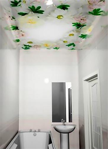 Вальс цветов - Декоративный влагостойкий потолок от MaxStone в Алматы