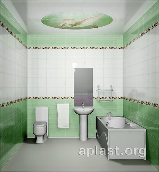 Зеленый океан - Декоративный влагостойкий потолок от MaxStone в Алматы