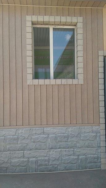 Отделка дома Тимберблоком (Timberblock's) в Алматы MAXstone