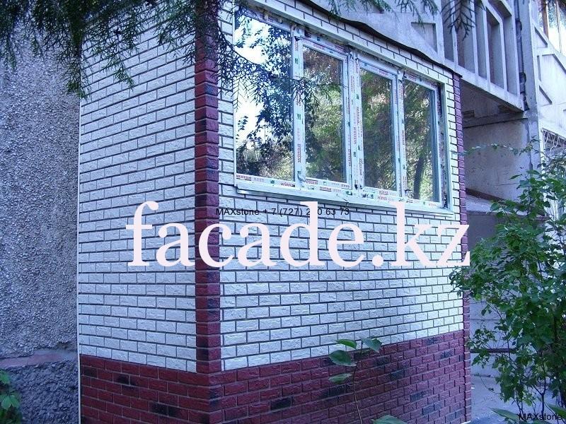 Отделка балкона фото снаружи бетонными блоками..
